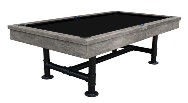 Georgian Rustic grey pool table black