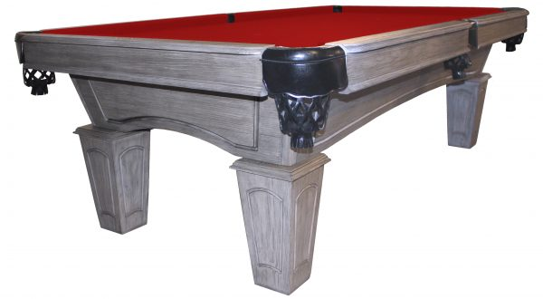 Heritage Rustic Grey pool table with red cloth