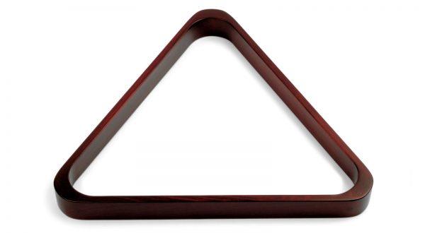 wood triangle rack in espresso